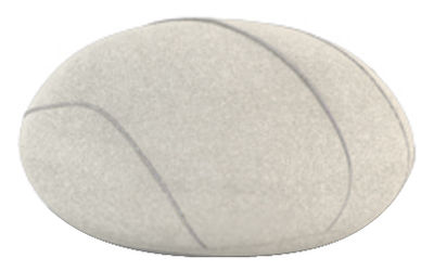 Foto Cuscino Hervé Livingstones - Versione in lana da interno di Smarin - Bianco - Tessuto