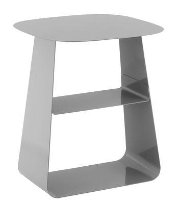 Foto Tavolino Stay / 40 x 40 cm - Normann Copenhagen - Grigio - Metallo Tavolino d'appoggio