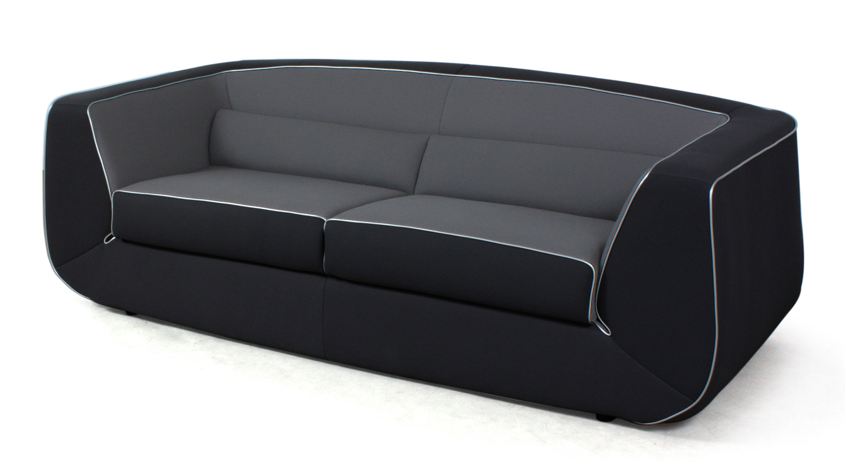 Canap convertible bump xl by ora ito 3 places l 238 cm noir gris pas - Dunlopillo canape convertible ...