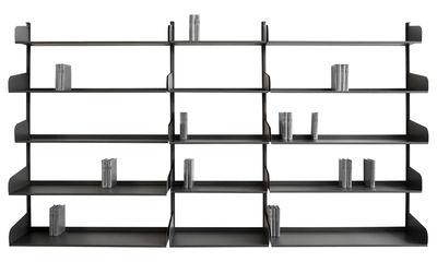 Foto Libreria Felix - /Composizione 3 : 15 ripiani - L 280 x H 170 cm di Zeus - Canna di fucile - Metallo
