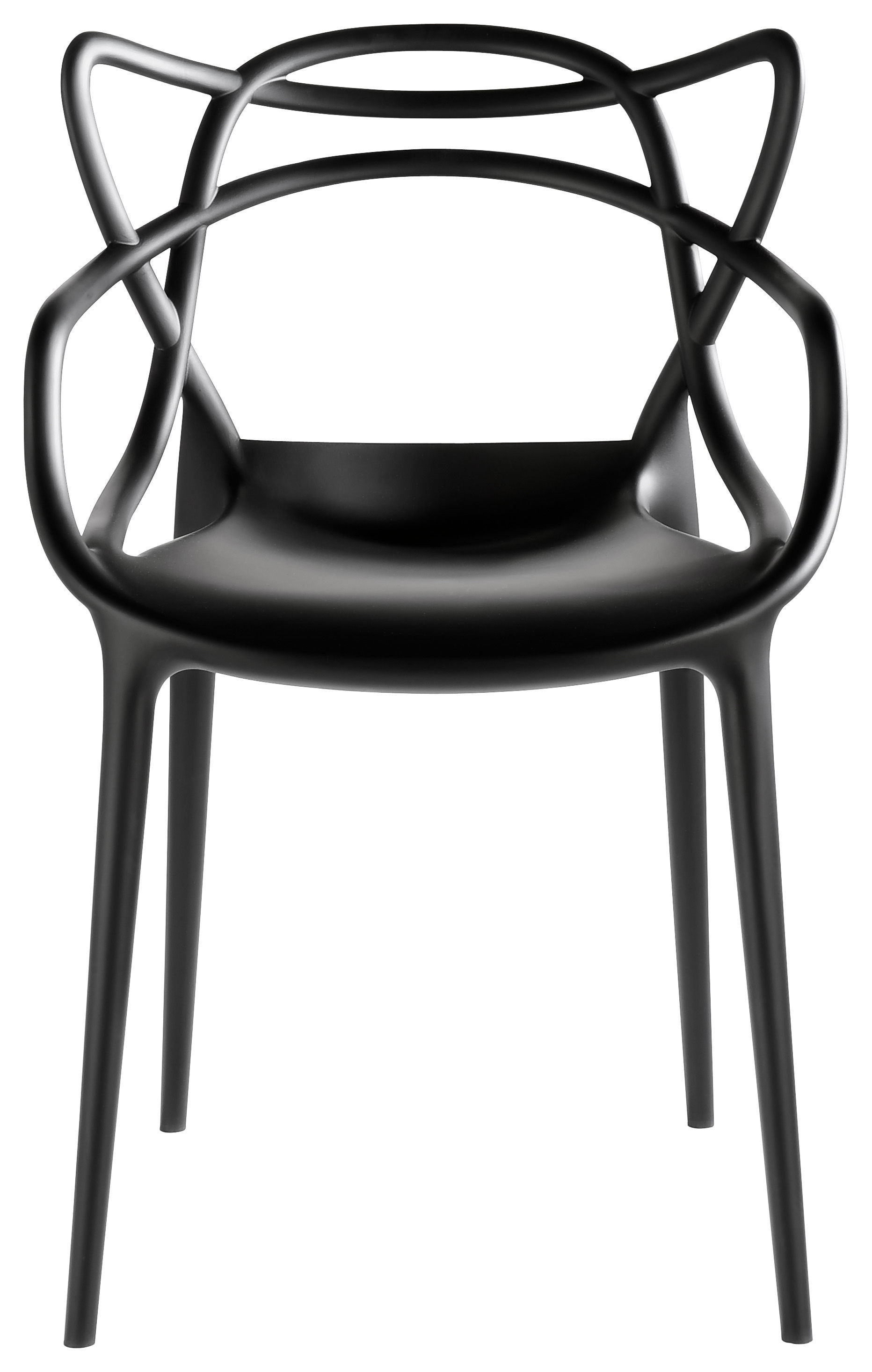 fauteuil masters kartell plastique noir made in design ForMasters Kartell