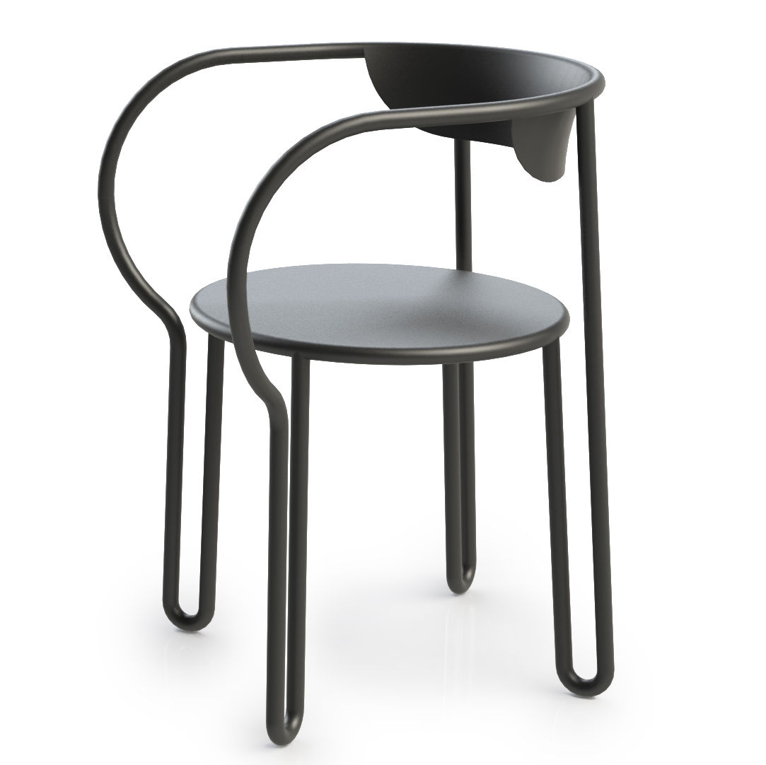 Fauteuil huggy en exclusivit gris graphite made in design editions - Fauteuil made in design ...