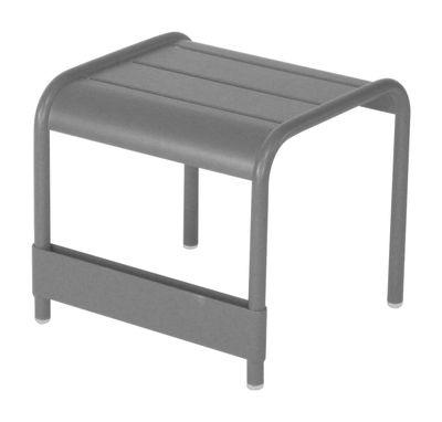 Foto Tavolino Luxembourg - L 42 cm di Fermob - Grigio metallo - Metallo Tavolino d'appoggio