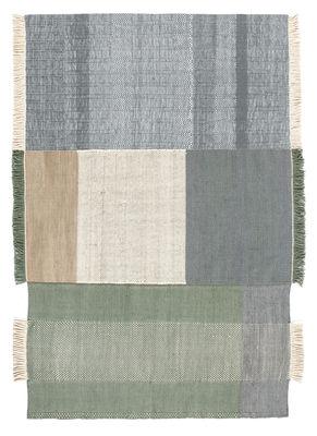 Foto Tappeto Tres / 200 x 300 cm - Nanimarquina - Ecru,bleu & vert - Tessuto
