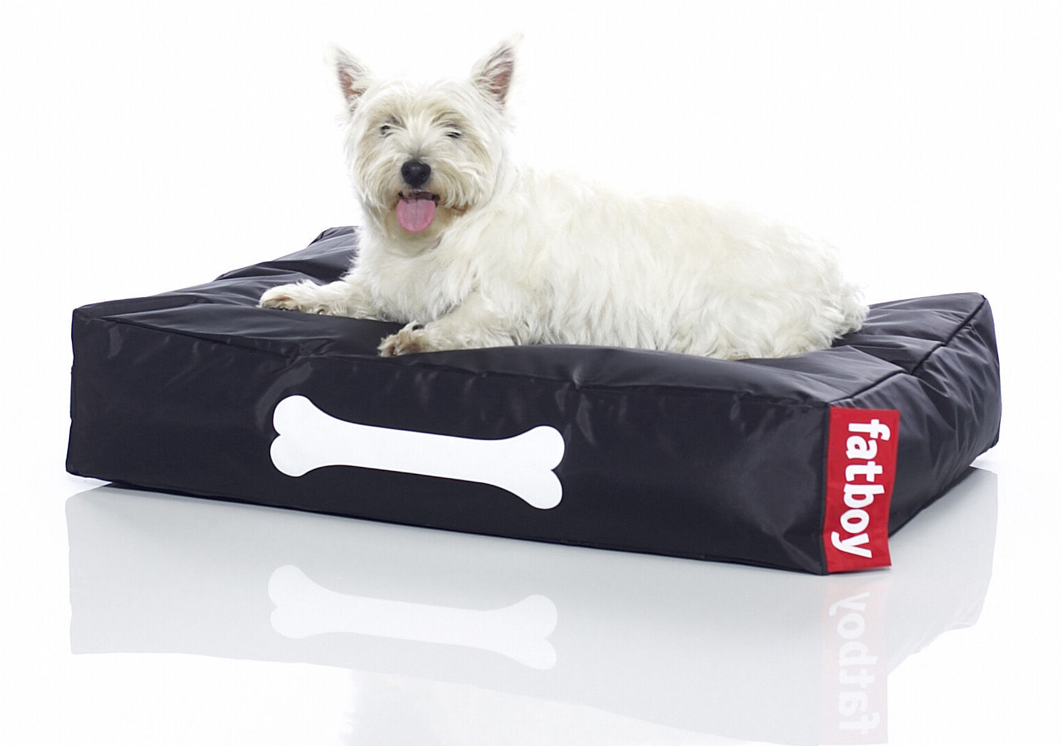 doggielounge small pouf for dogs black by fatboy. Black Bedroom Furniture Sets. Home Design Ideas