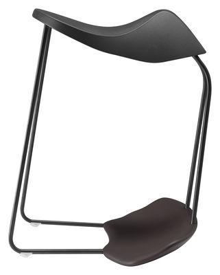 tabouret dinamica h 60 cm plastique noir alias. Black Bedroom Furniture Sets. Home Design Ideas