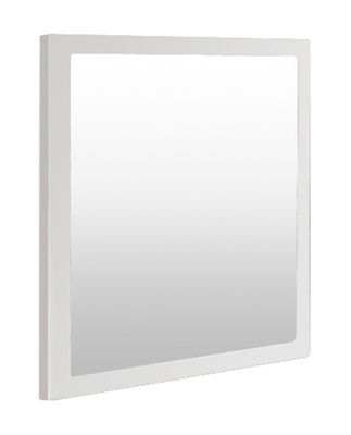 Miroir little frame 60 x 60 cm blanc demi opaque zeus for Miroir 60 cm