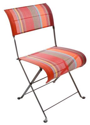 chaise pliante dune collioure toile collioure savane fermob. Black Bedroom Furniture Sets. Home Design Ideas