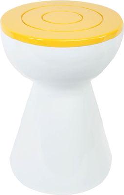 Foto Sgabello Boto - / tavolino basso - H 50 cm di XL Boom - Bianco,Giallo sole - Materiale plastico