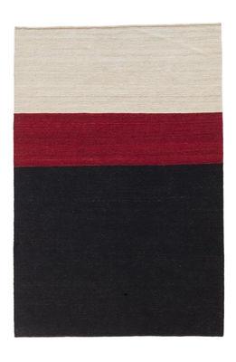 Foto Tappeto Melange Colour 2 / 140 x 200 cm - Nanimarquina - Bianco,Rosso,Nero - Tessuto