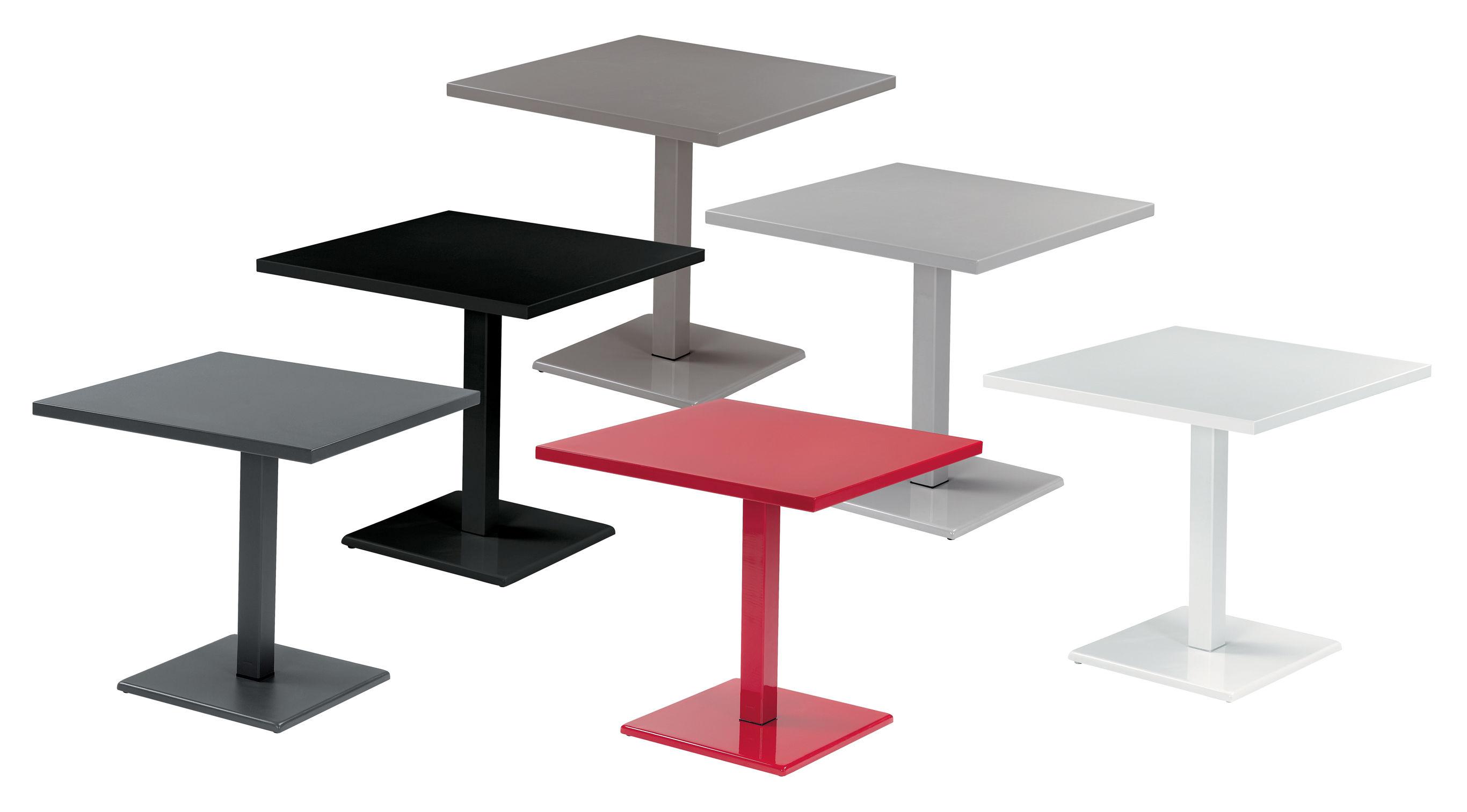Table de jardin round 80 x 80 cm blanc emu for Table de jardin rouge