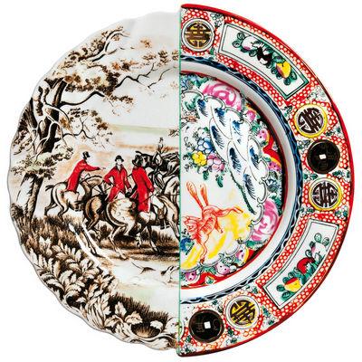 Foto Piatto Hybrid Eusapia - Ø 27,5 cm di Seletti - Multicolore - Ceramica