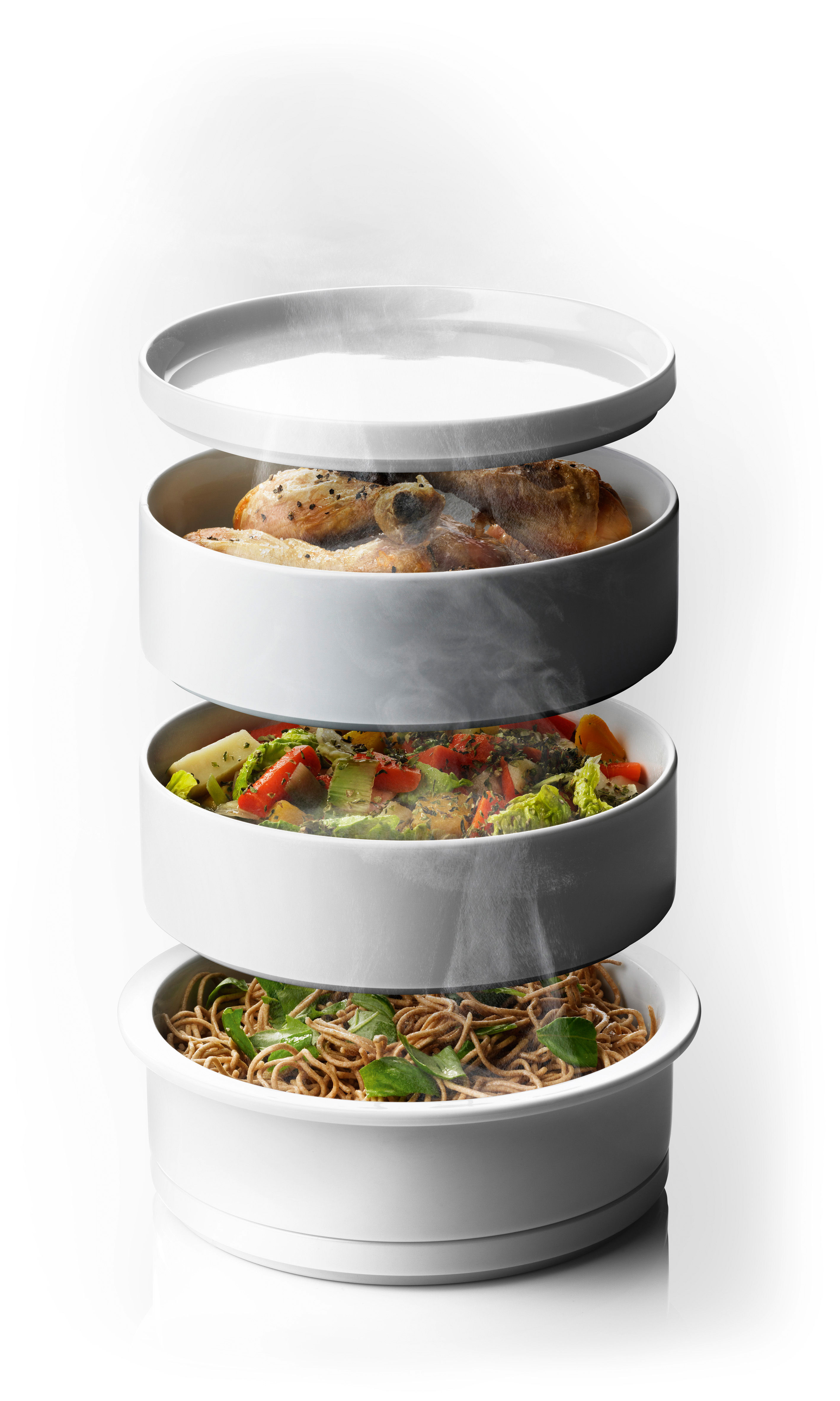 cuiseur vapeur steam tower pour cuisson au four blanc menu. Black Bedroom Furniture Sets. Home Design Ideas
