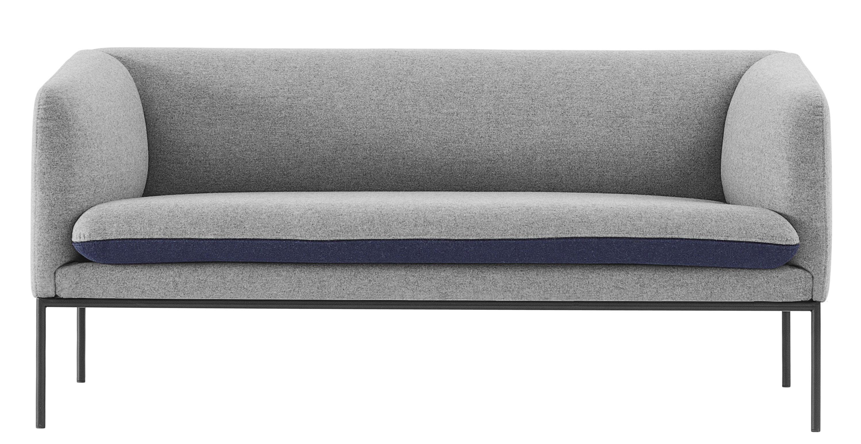 Canap droit turn l 160 cm 2 places gris clair bleu nuit ferm living - Canape 2 places 160 cm ...