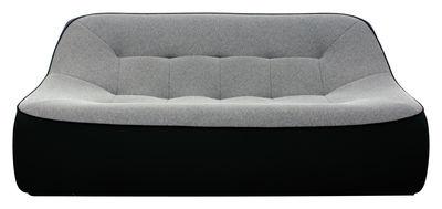 canap droit tchubby by ora ito 2 places l 175 cm noir gris chin passepoil noir. Black Bedroom Furniture Sets. Home Design Ideas