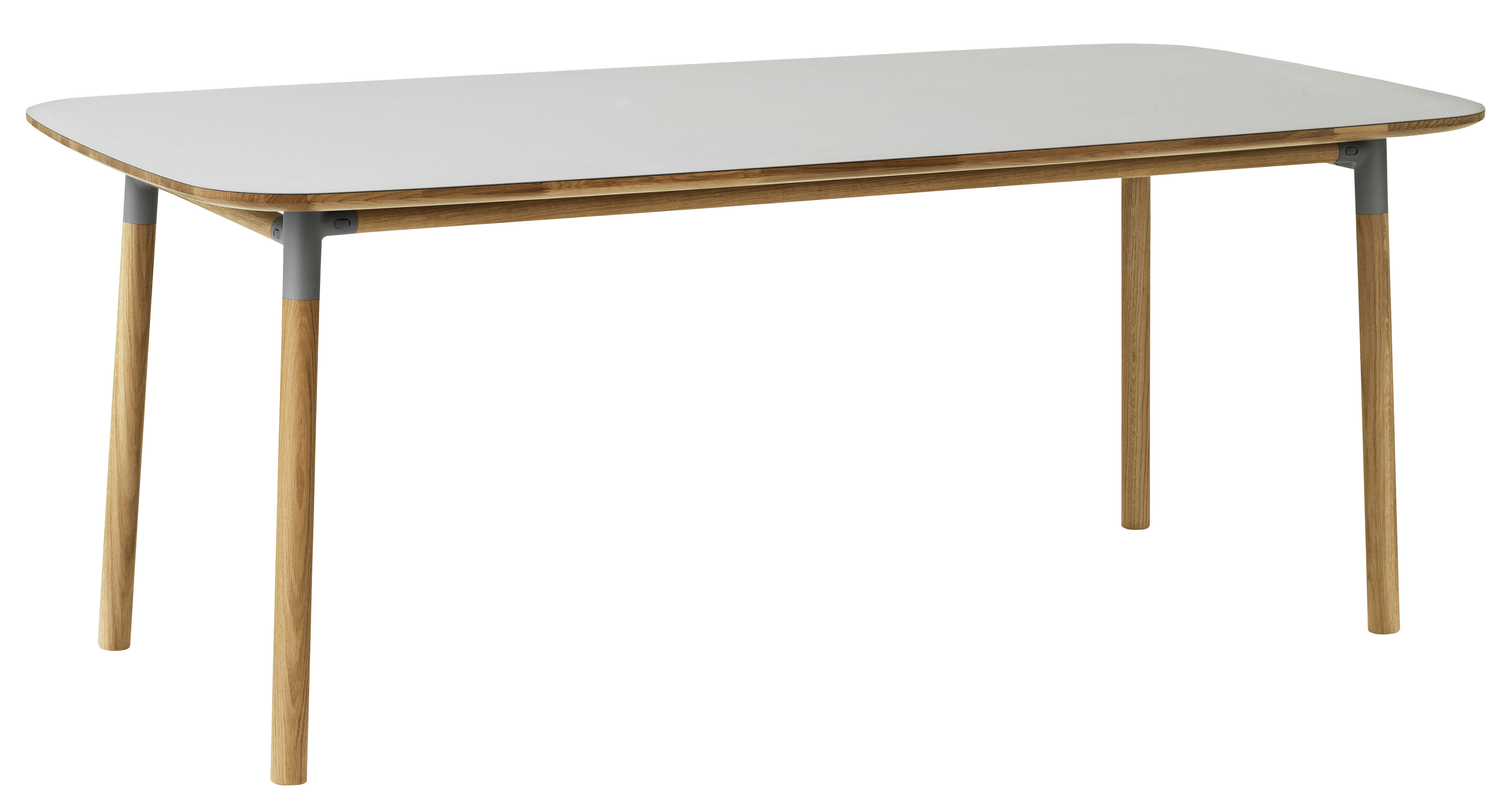 Form table 95 x 200 cm grey oak by normann copenhagen for Html form table