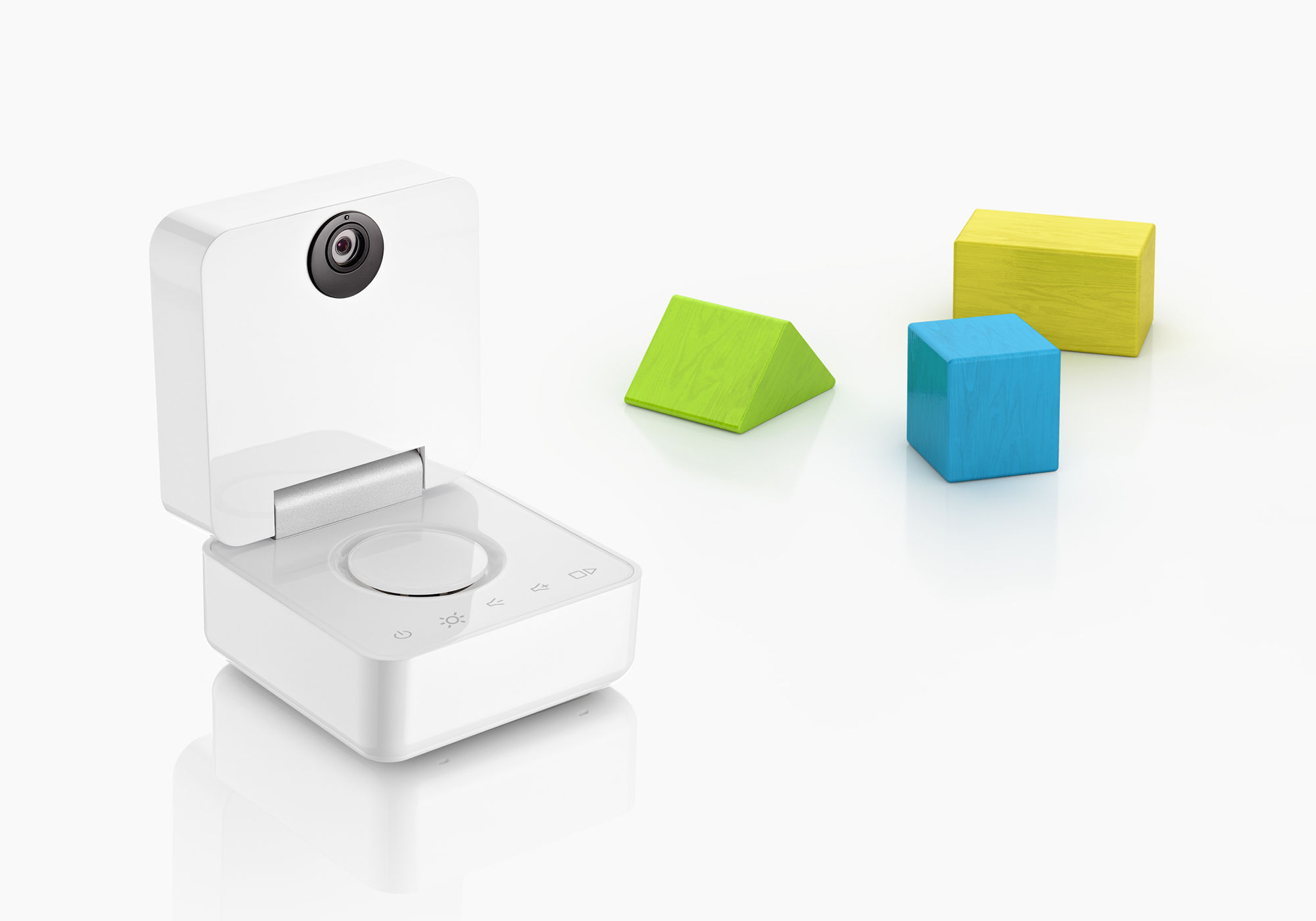 smart baby monitor babyphone video baby monitor iphone connection white b. Black Bedroom Furniture Sets. Home Design Ideas