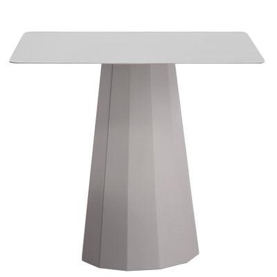 Foto Tavolino rotondo Ankara M - / 70x70 x H 60 cm di Matière Grise - Grigio alluminio - Metallo