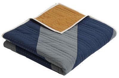 Foto Plaid Sideways / 250 x 250 cm - Hay - Blu,Ocra,Vert de gris - Tessuto