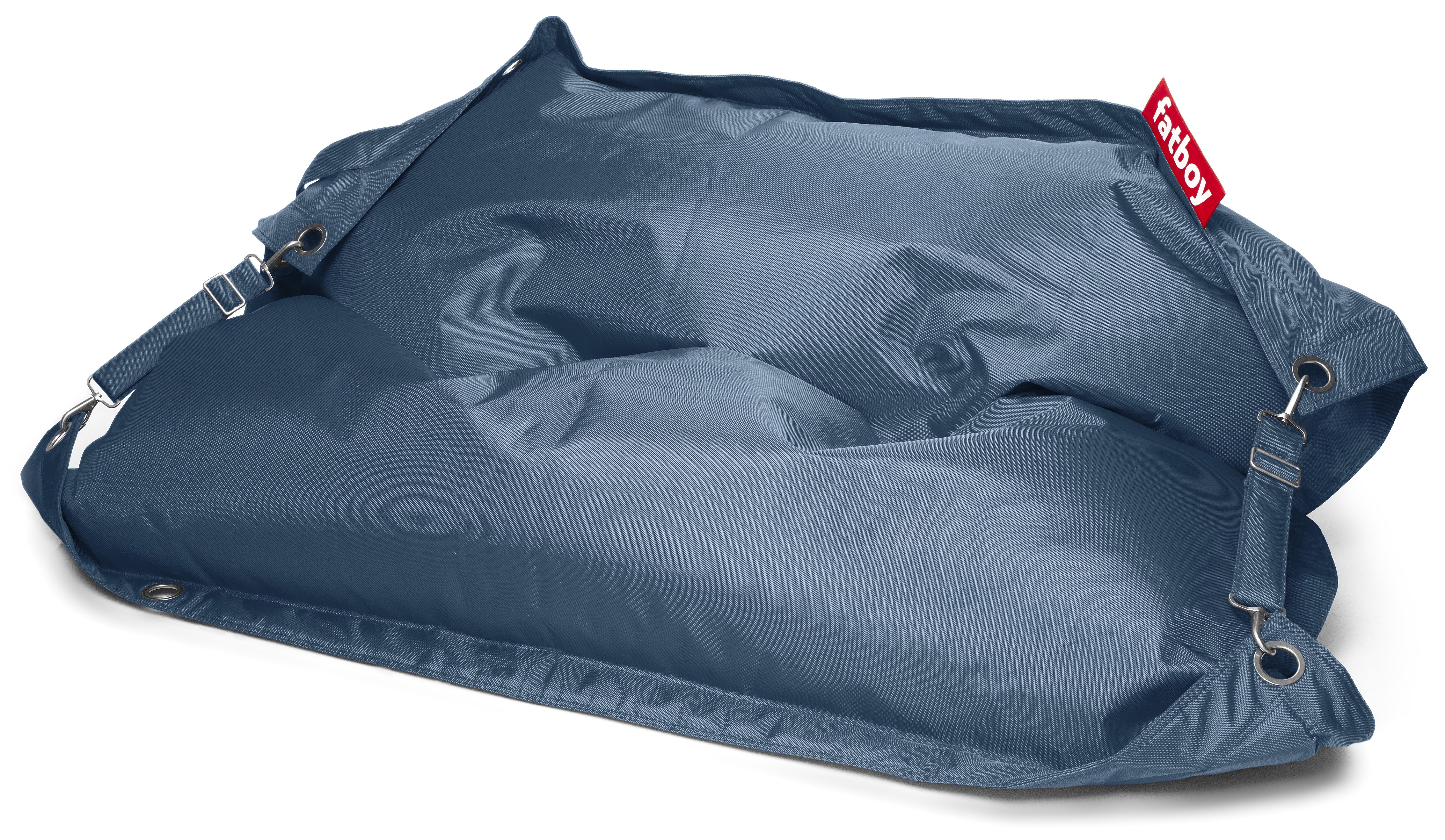 buggle up pouf with adjustable straps jeans light blue by fatboy. Black Bedroom Furniture Sets. Home Design Ideas