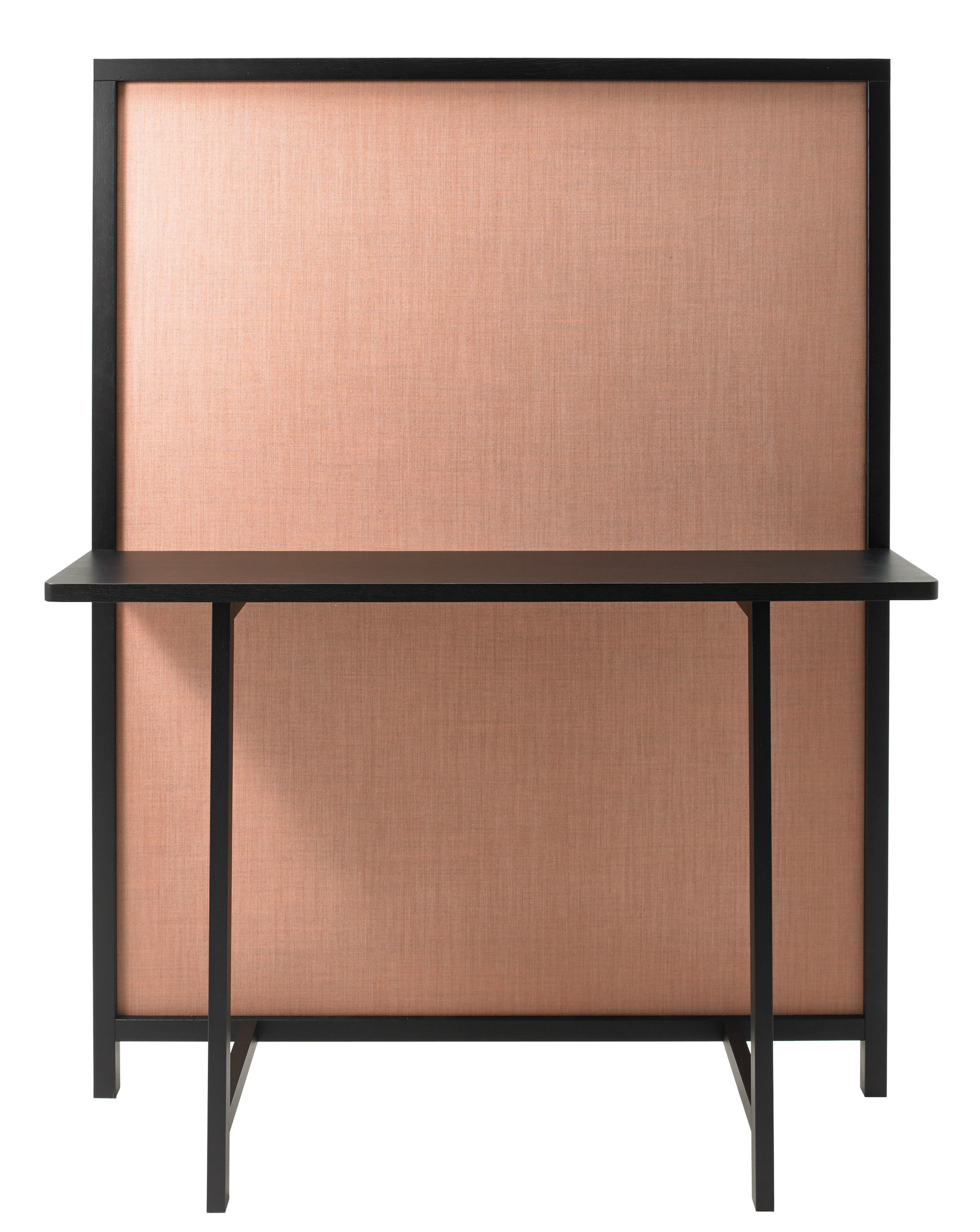 Shoji screen sideboard w 130 x h 170 cm black pink for Sideboard 50 cm