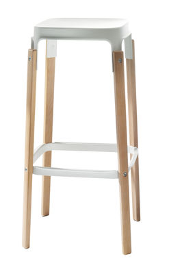 Steelwood High stool - Two toned version - H 78 cm
