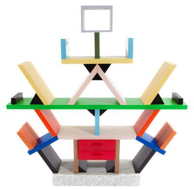 Bibliothèque Carlton by Ettore Sottsass Séparation 1981 Memphis Milano Multicolore en Matière plastique