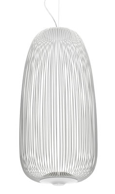 Foto Sospensione Spokes 1 / LED - Ø 32,5 x H 71 cm - Foscarini - Bianco - Metallo