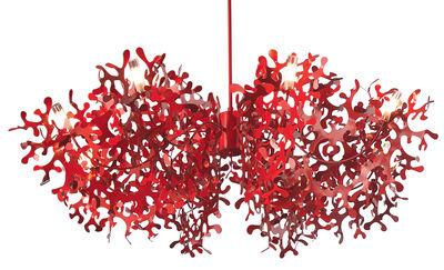 Foto Sospensione Supercoral 8 - Ø 140 cm di Lumen Center Italia - Rosso - Metallo