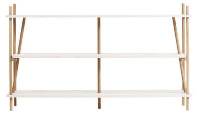 Libreria Simone / L 152 x H 92 cm - Hartô - Bianco,Rovere naturale - Legno