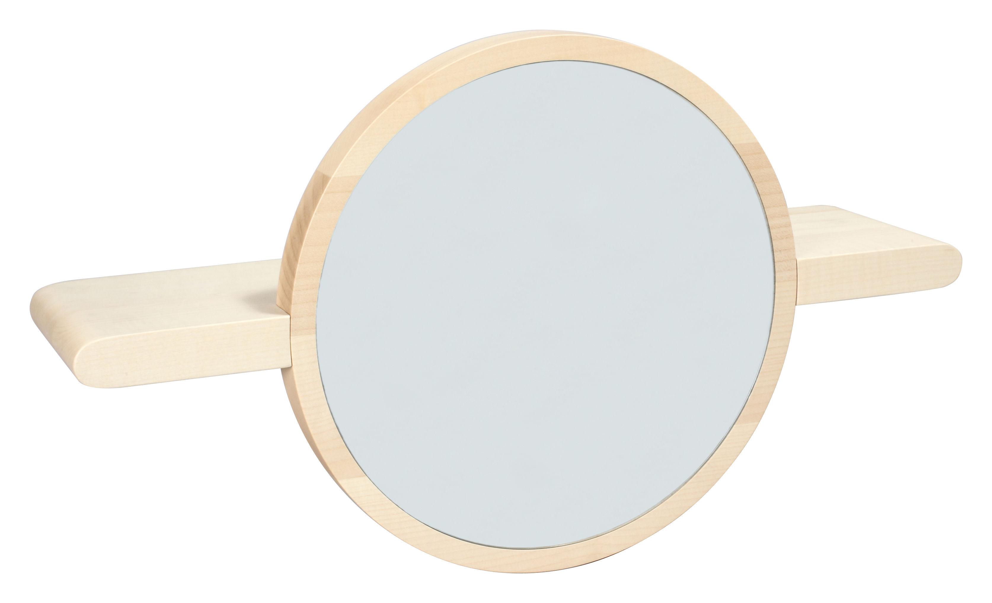 etag re mirette miroir rond l 60 cm bois naturel made in design editions by oxyo. Black Bedroom Furniture Sets. Home Design Ideas
