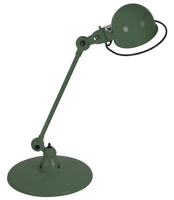 Foto Lampada da tavolo Loft - 1 braccio articolato - L 60 cm di Jieldé - Verde oliva brillante - Metallo