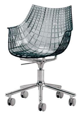 Meridiana Desk chair by Driade Smoked grey