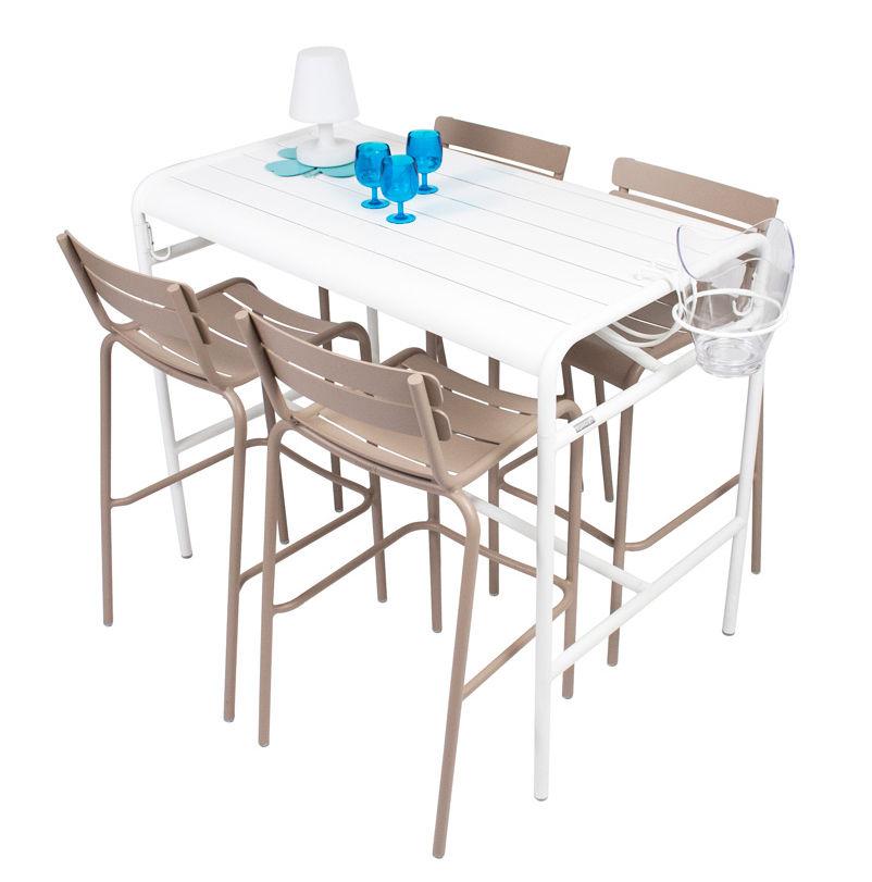 Table haute luxembourg 4 personnes 126 x 73 cm for Table haute 8 personnes