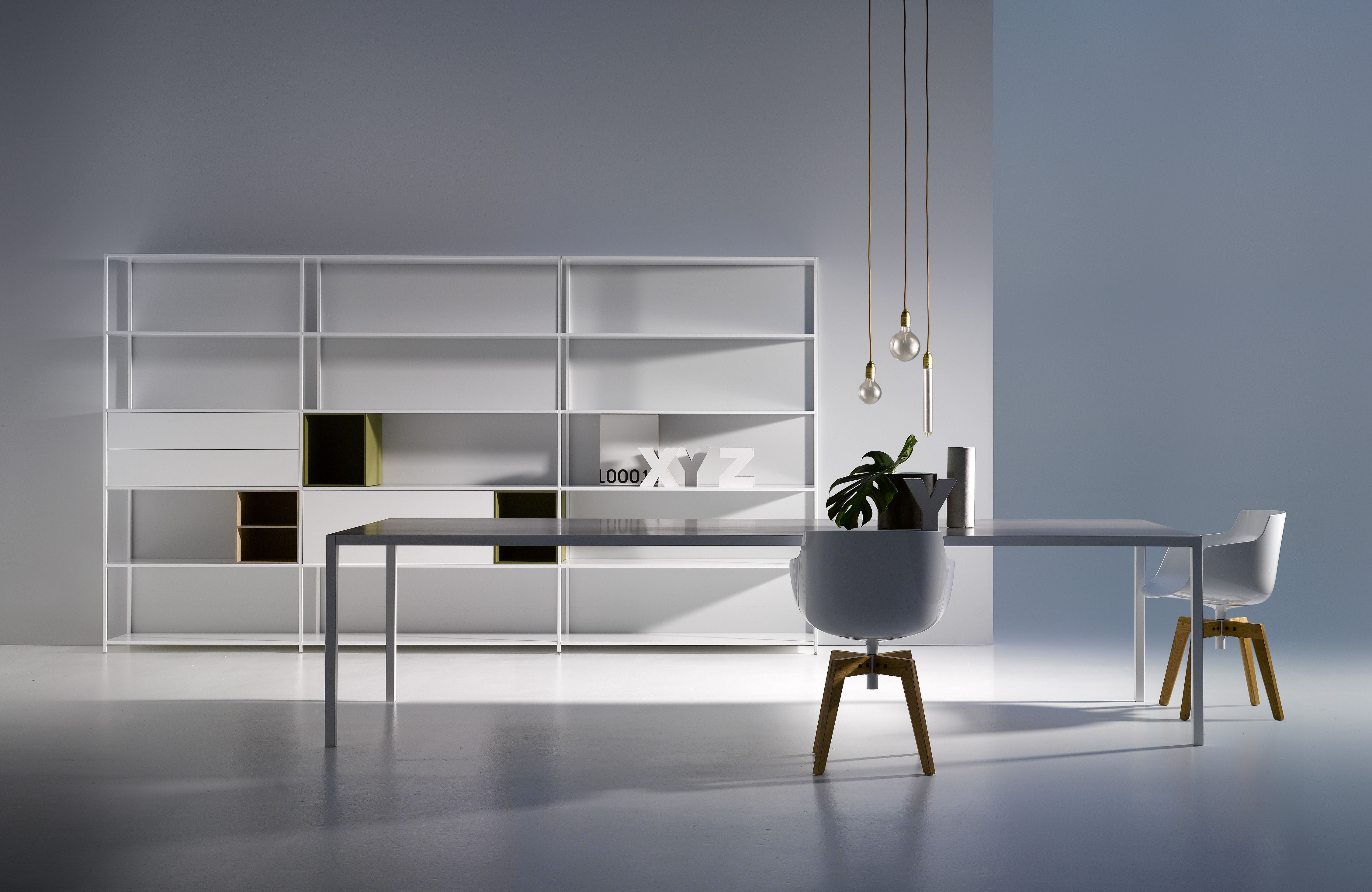 caisson minima 2 tiroirs l 90 cm blanc l 90 cm mdf italia. Black Bedroom Furniture Sets. Home Design Ideas