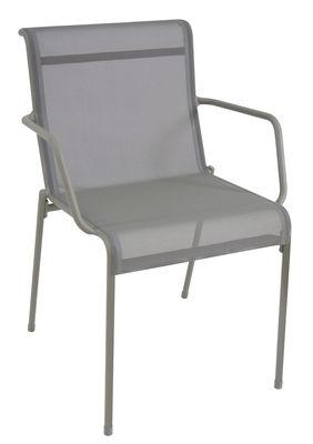 Foto Poltrona impilabile Kira / Seduta tela - Emu - Grigio - Metallo