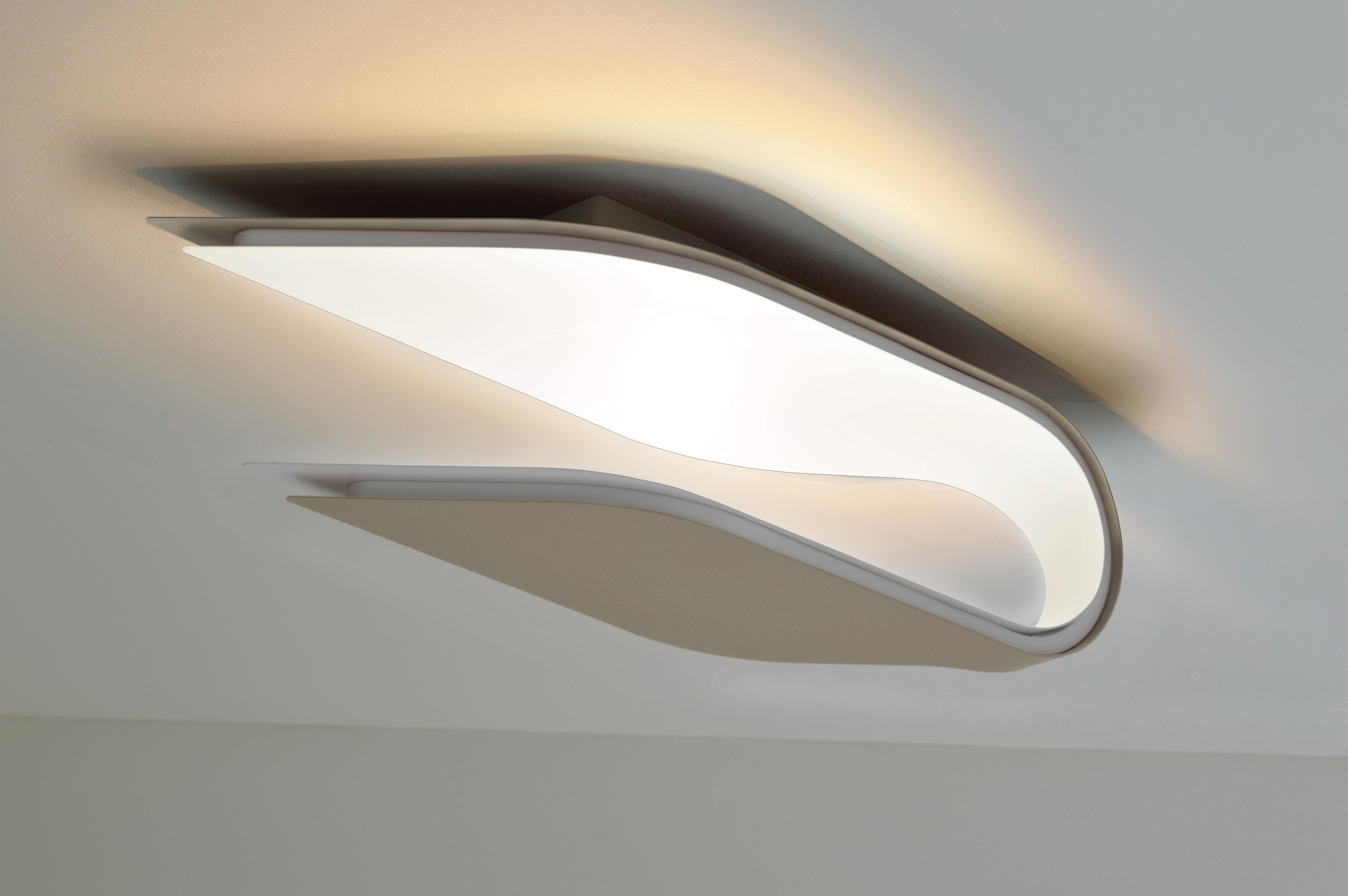 Applique foliage plafonnier l 38 cm ext rieur gris for Luminaire design entree