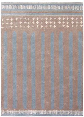 tapis barnab by ines de la fressange 170 x 240 cm gris clair bleu pastel toulemonde bochart. Black Bedroom Furniture Sets. Home Design Ideas