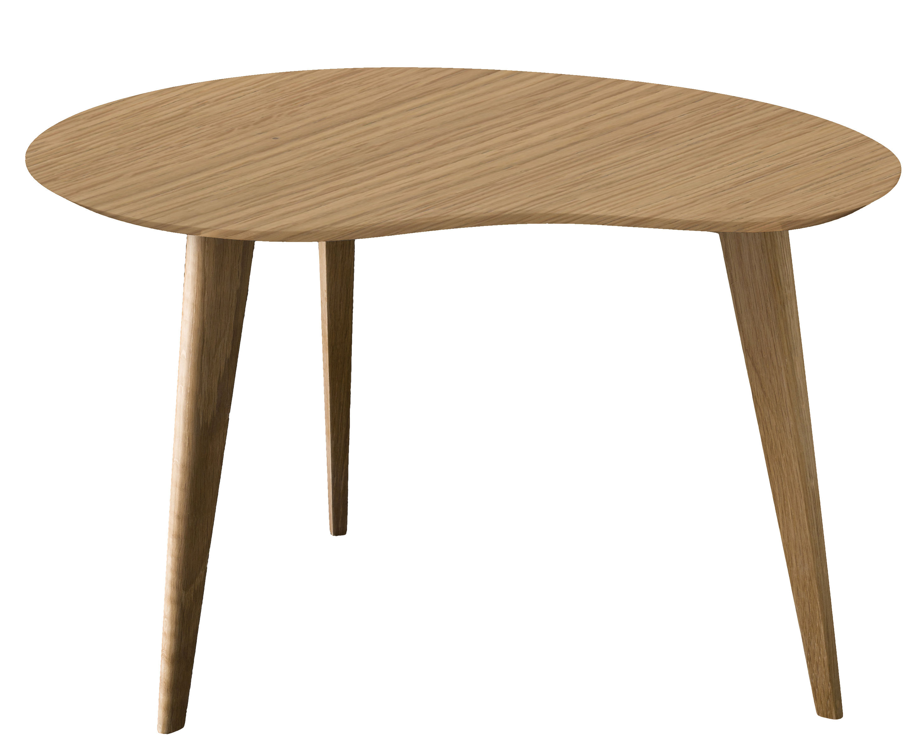 Lalinde coffee table oak wood legs by sentou edition - Table basse vitree ...