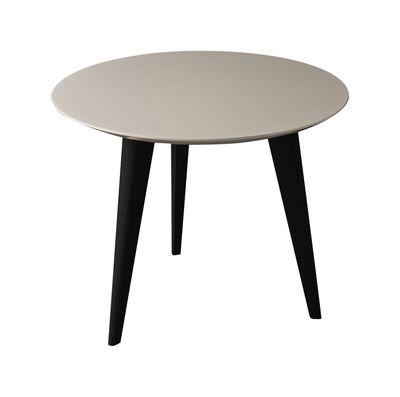 table basse lalinde small 45cm pieds noirs gris clair. Black Bedroom Furniture Sets. Home Design Ideas