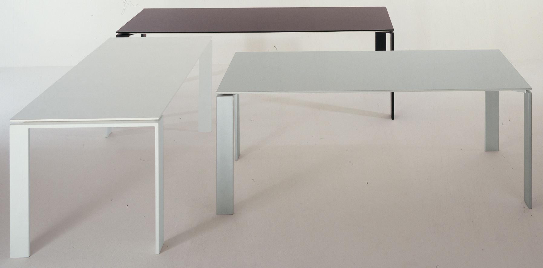 Four table alu l 223 cm 223 cm by kartell for Table kartell