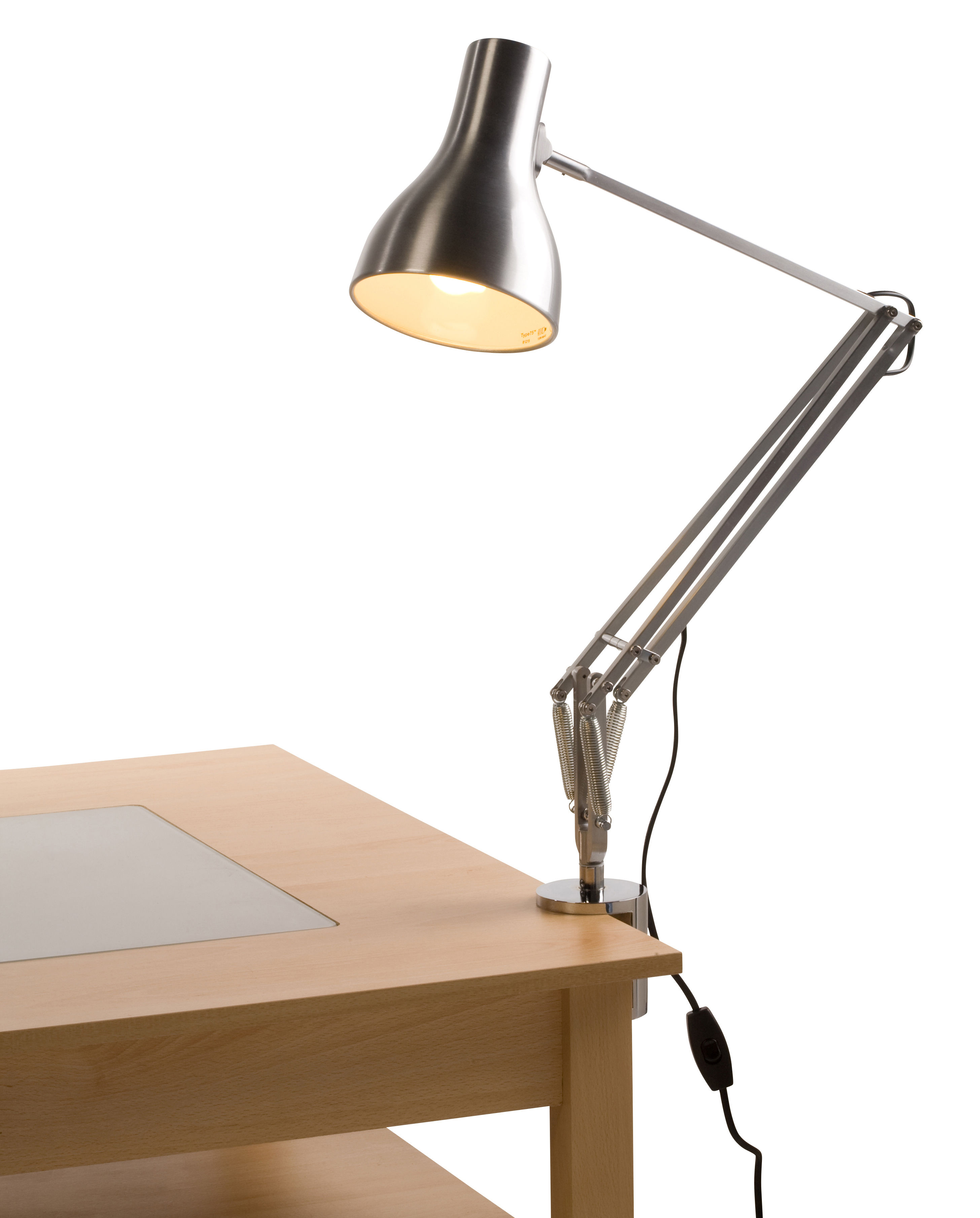 desk clamp for the anglepoise lamps chromed by anglepoise. Black Bedroom Furniture Sets. Home Design Ideas