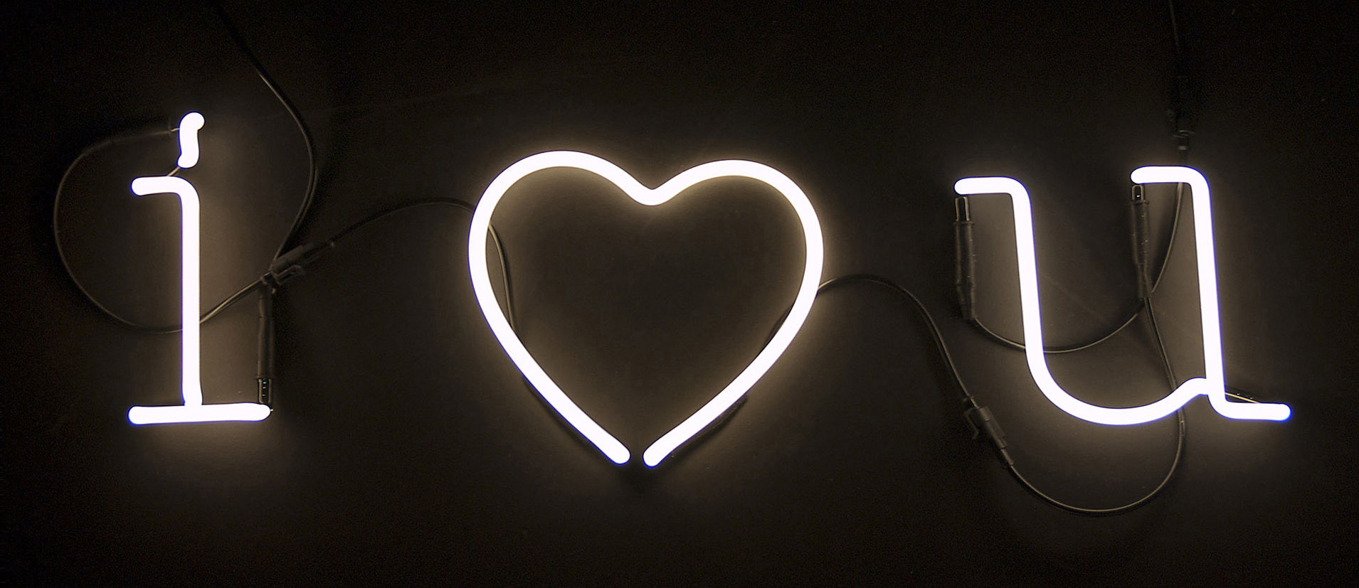 neon art wall light symbol coeur    white by seletti