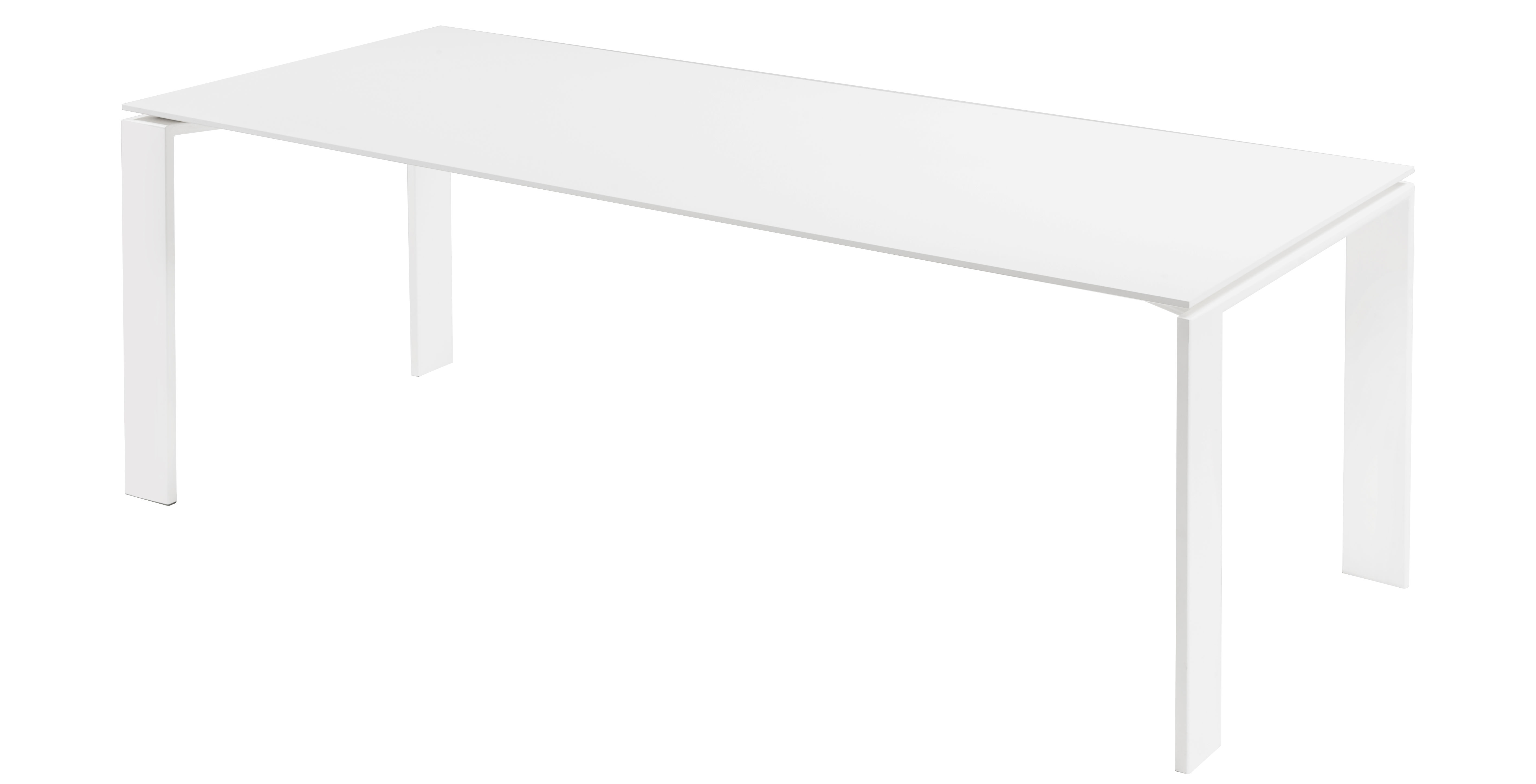 Kartell table l four table black l 190 cm 190 cm by for Table 140 x 70