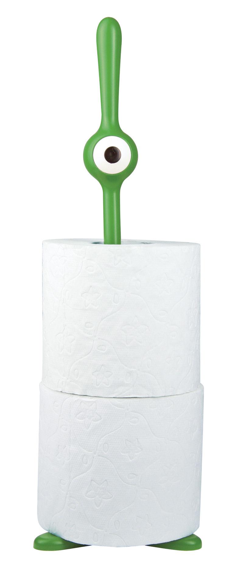porte rouleau essuie tout toq papier toilette vert koziol. Black Bedroom Furniture Sets. Home Design Ideas