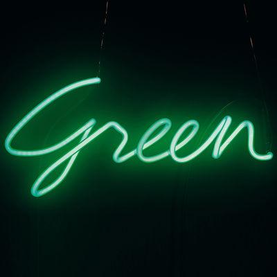 Foto Applique Neon Shades Green di Seletti - Verde - Vetro
