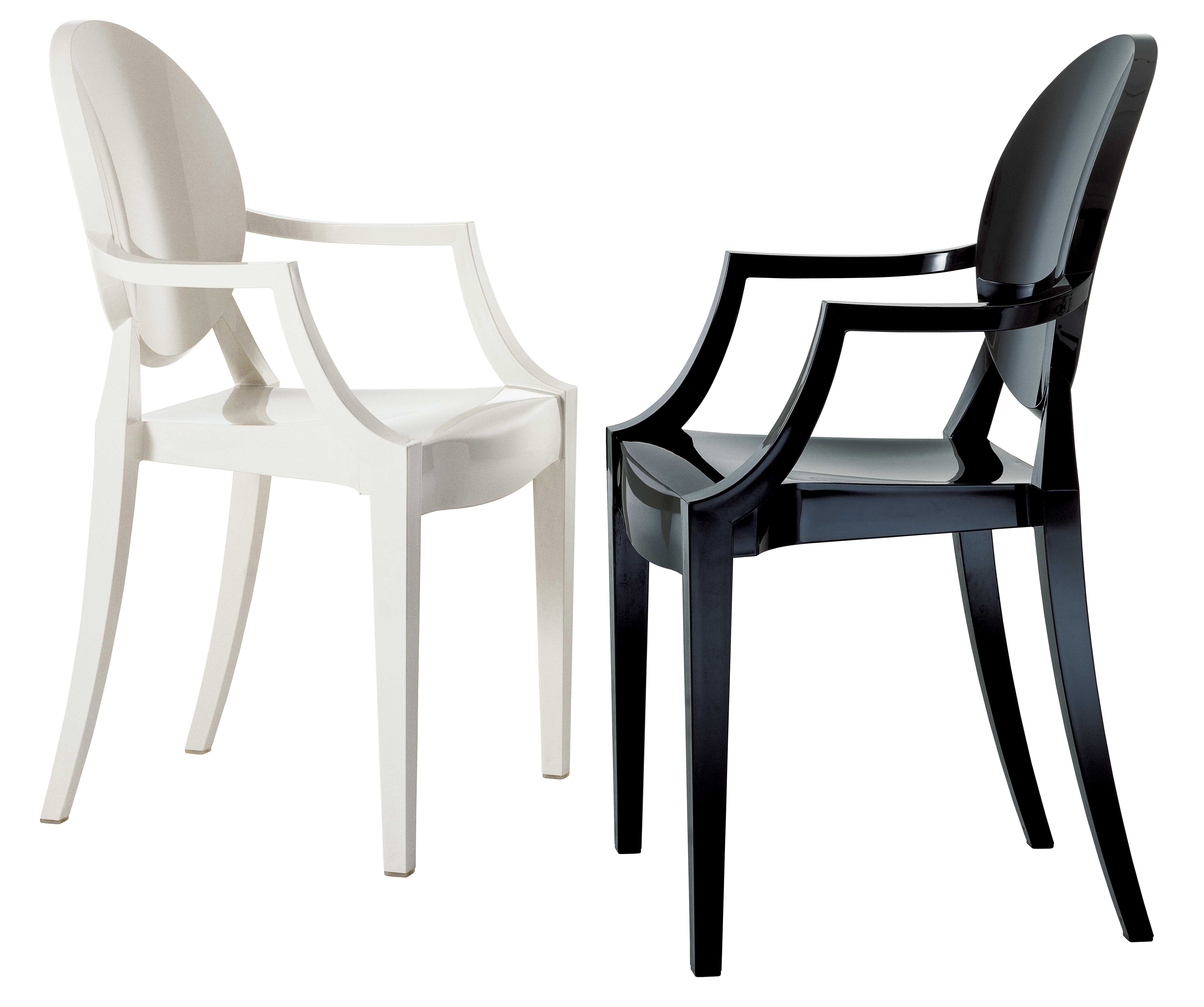 fauteuil empilable louis ghost polycarbonate noir opaque kartell. Black Bedroom Furniture Sets. Home Design Ideas