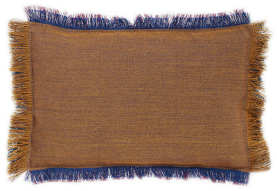 Foto Cuscino Fray / 45 x 30 cm - Hay - Ambra,Indaco - Tessuto