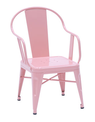 Foto Poltrona Mouette - acciaio laccato di Tolix - Rosa pallido - Metallo