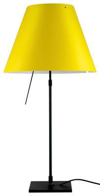 lampe de table costanza structure noire structure noire diffuseur jaune luceplan. Black Bedroom Furniture Sets. Home Design Ideas